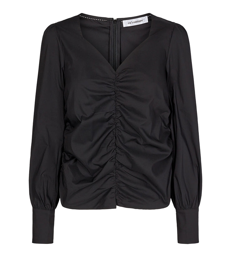 Sandy Poplin Blouse Black