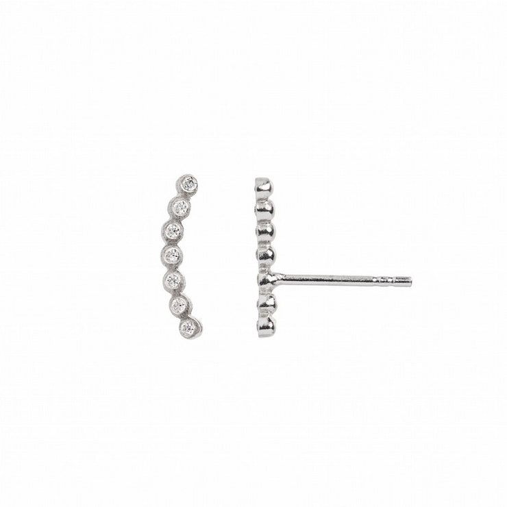 Seven Dots Earring Silver Right