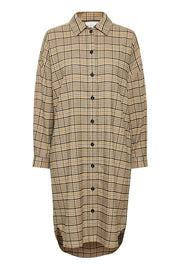 Aloe Shirt Dress Checked