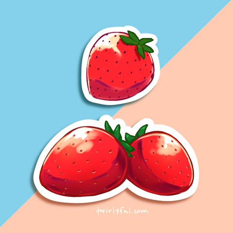 strawberry stickers
