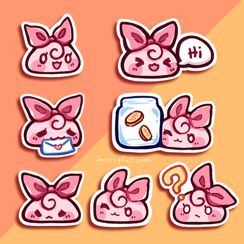 twirlyroll sticker set