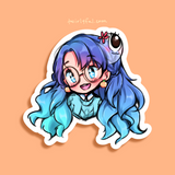 Twirly Headshot Sticker