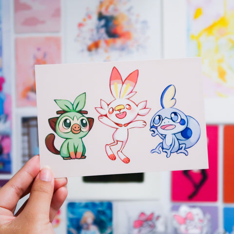 Sword and Shield Starters Print