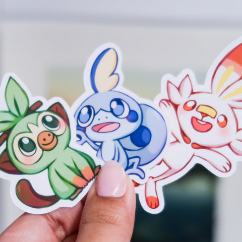 Sword and Shield Starter Sticker Set