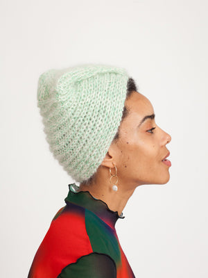 Bo turban, Off-white & Green