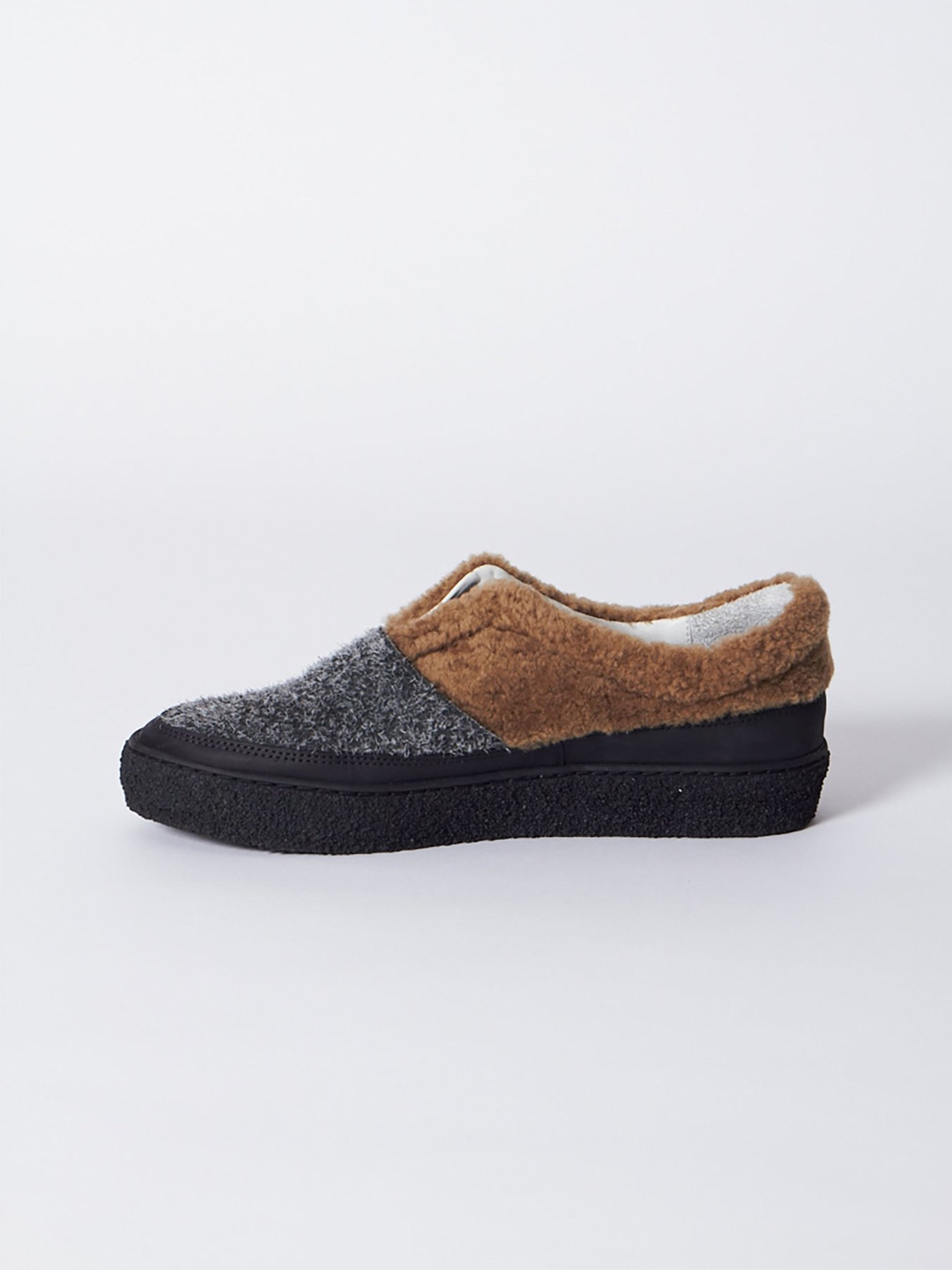 Reality Studio Boa Slip Ons Brown Anthracite Black
