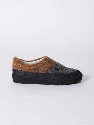 Boa slip-on, Brown/ Anthracite/ Black