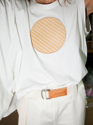 Lopo belt, off white & natural
