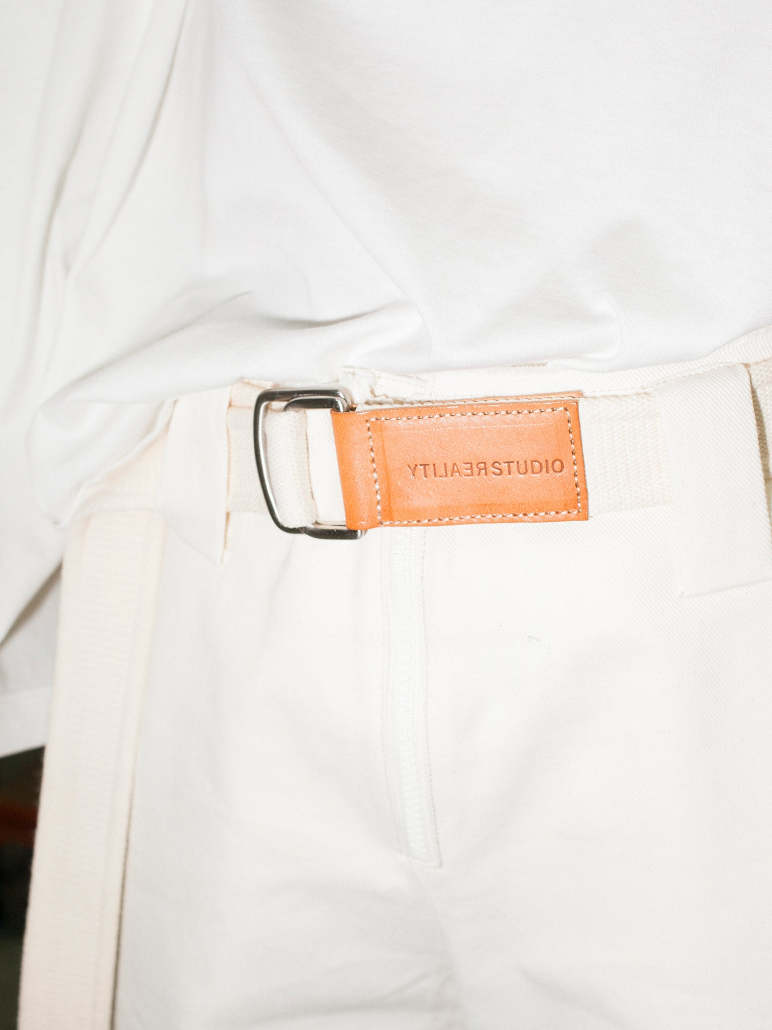 Reality Studio Lopo Belt Off-White & Natural