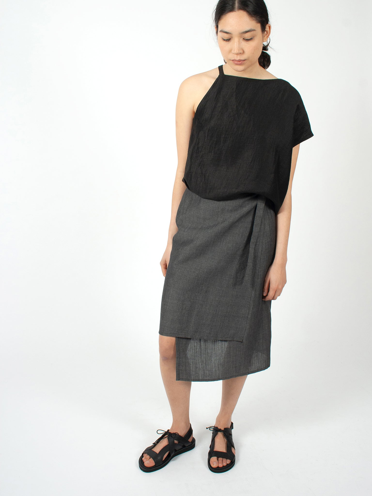 Reality Studio Alva skirt black denim