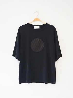 Reality Studio Circle T-shirt circle application Black