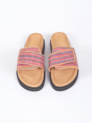 Mono Sandals, fuchsia mix