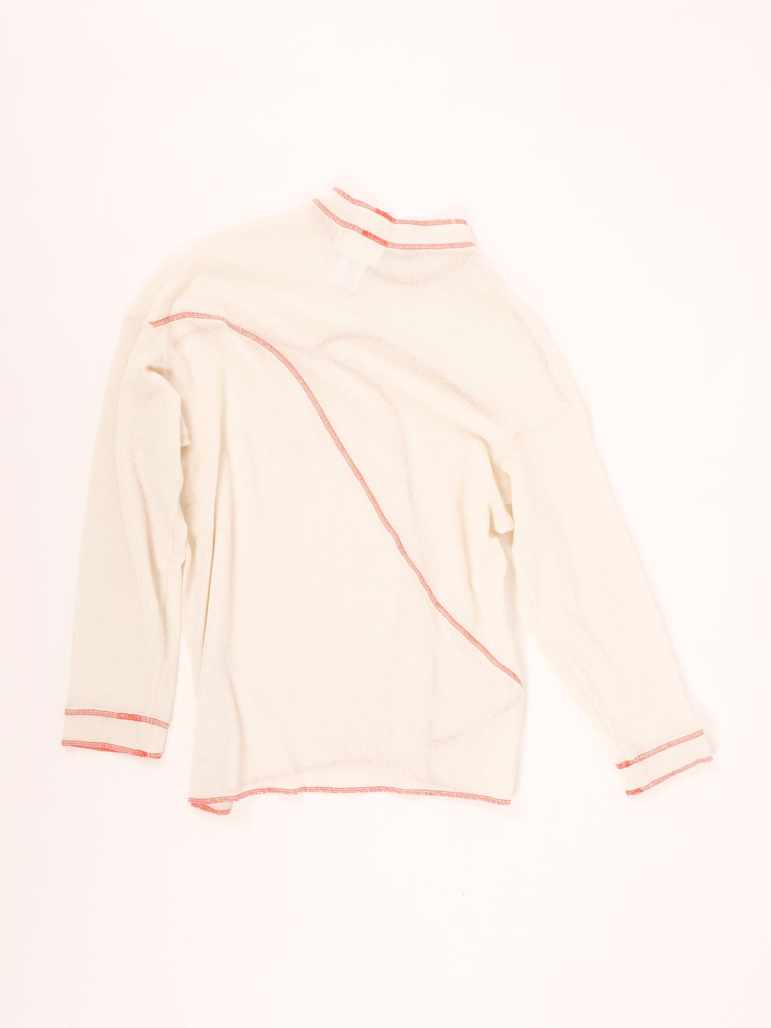 Ping pullover, off-white/ neon-orange