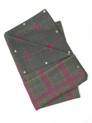 Reality Studio Shuka plaid Grey Pink Checks
