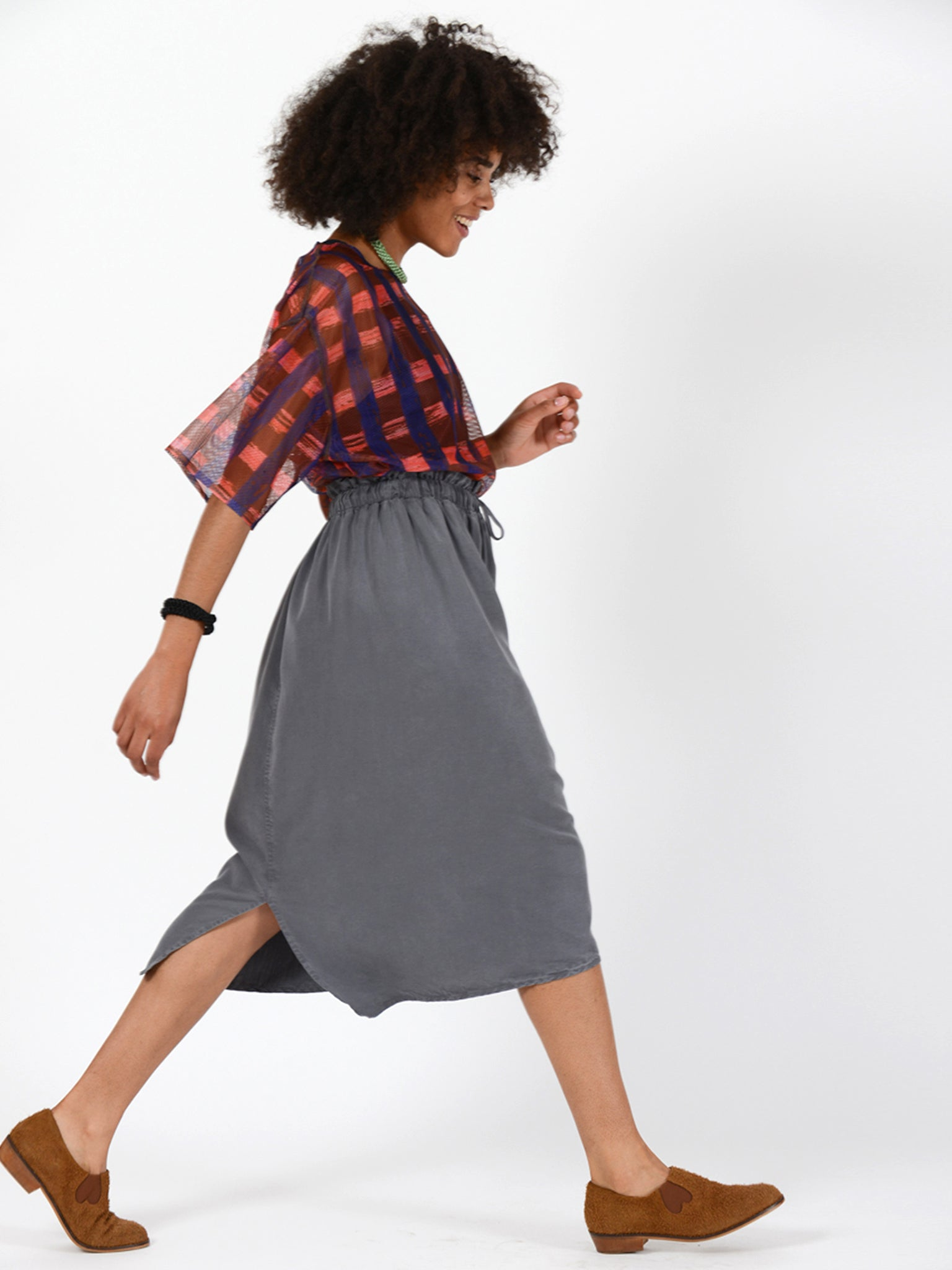 Reality Studio zohra skirt fog grey