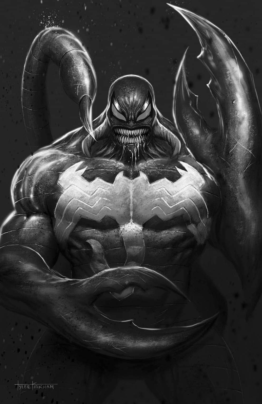 Venom #30 Tyler Kirkham Black and White