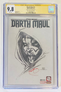 Darth Maul 1 Sketch Michael Turner Cover SIGNED by RAY PARK CGC 9.8