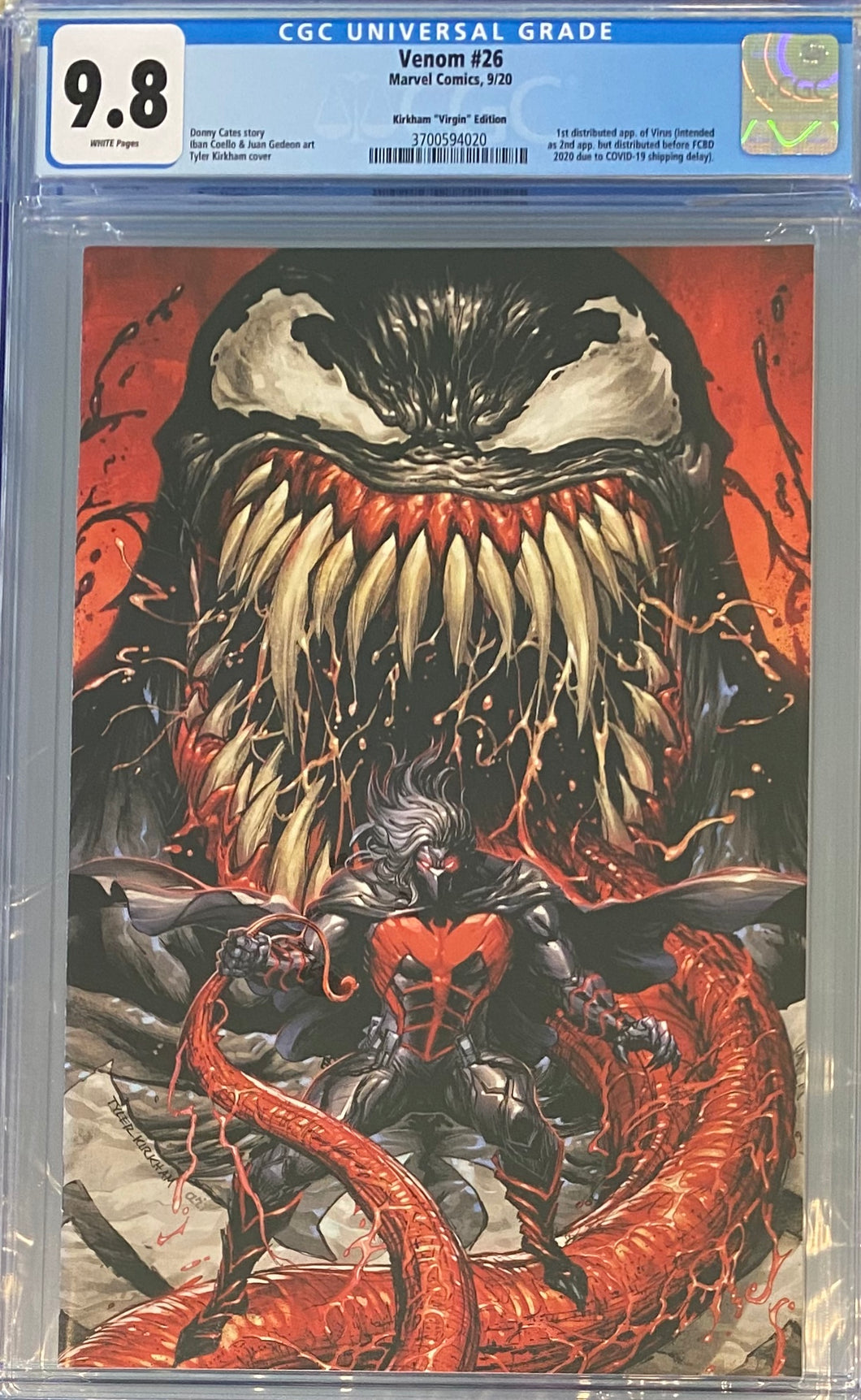 Venom #26 CGC 9.8 SECRET Tyler Kirkham VIRGIN VARIANT READY to SHIP