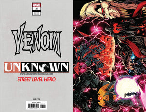Venom  #25 VIRGIN Street Level Hero// Unknown Comics