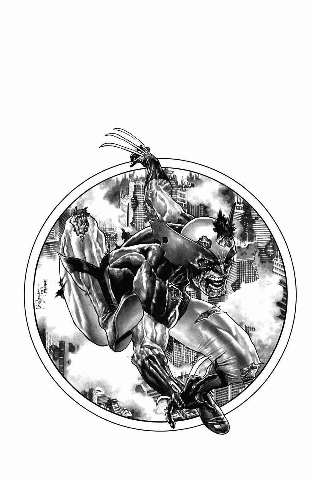 Marvel Zombies Resurrection #1 Mico Suayan BLACK and WHITE Cover