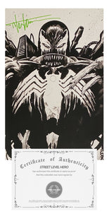 "COA Tyler Kirkham ""CLASSIC"" Signature  Venom #26 Black and White NEGATIVE VIRGIN Variant"
