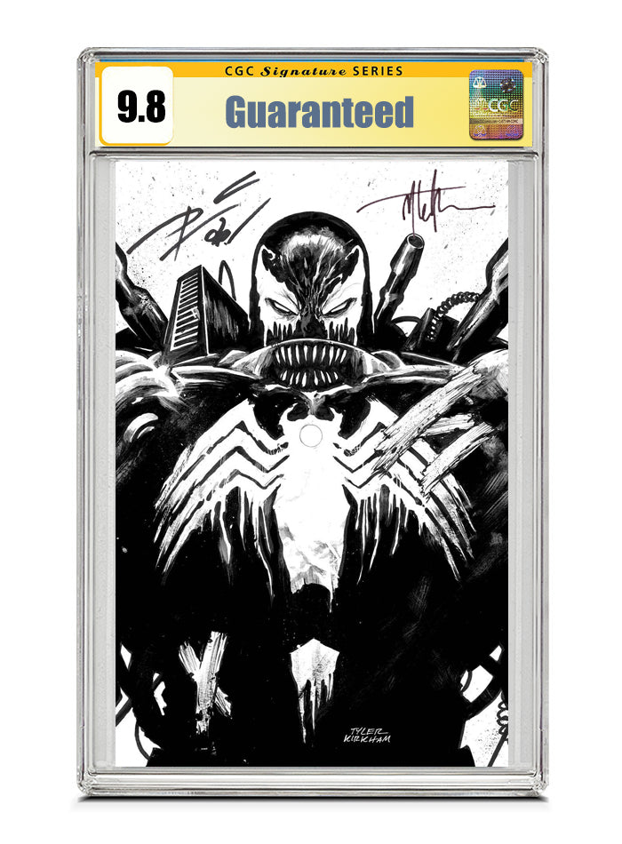 Venom #26 B&W Signed by Tyler Kirkham & Donny Cates CGC 9.8 Guaranteed Jan/Feb 2021