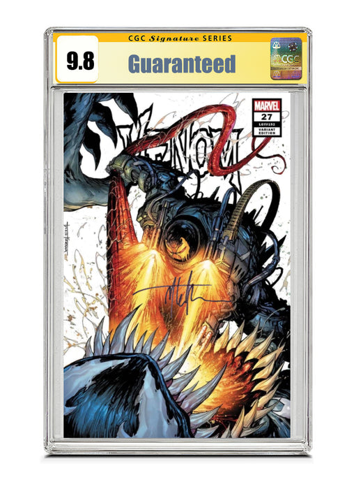 Venom #27 SECRET TRADE Signed by Tyler Kirkham CGC 9.8 Guaranteed Jan/Feb 2021