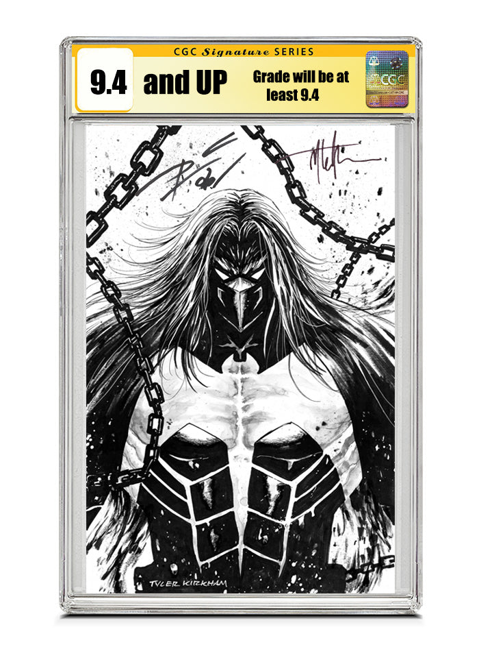 Venom #27 B&W REMARK by Tyler Kirkham/ Signed by Tyler Kirkham & Donny Cates CGC 9.4 or higher Guaranteed Jan/Feb 2021