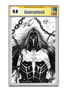 Venom #27 B&W REMARK by Tyler Kirkham Signed by Tyler Kirkham & Donny Cates CGC 9.8 Guaranteed Jan/Feb 2021