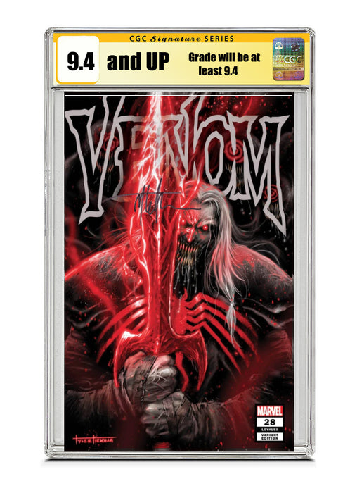 Venom #28 COVER A TRADE Signed by Tyler Kirkham CGC 9.4 or higher Guaranteed Jan/Feb 2021