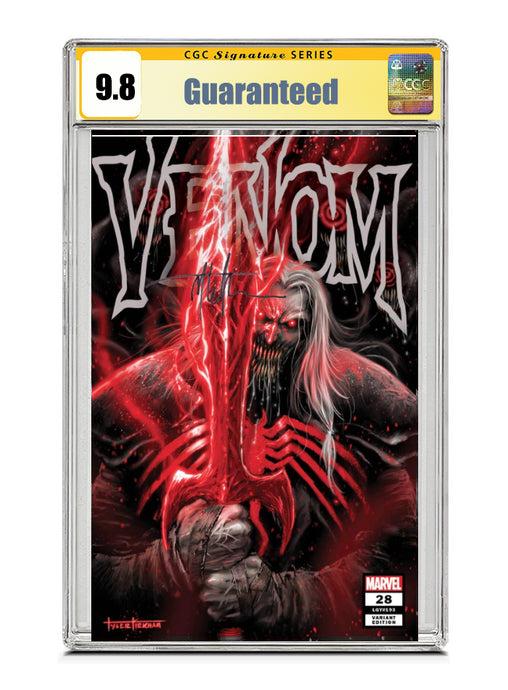 Venom #28 COVER A TRADE Signed by Tyler Kirkham CGC 9.8 Guaranteed Jan/Feb 2021