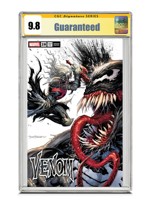 Venom #28 SECRET TRADE Signed by Tyler Kirkham CGC 9.8 Guaranteed Jan/Feb 2021