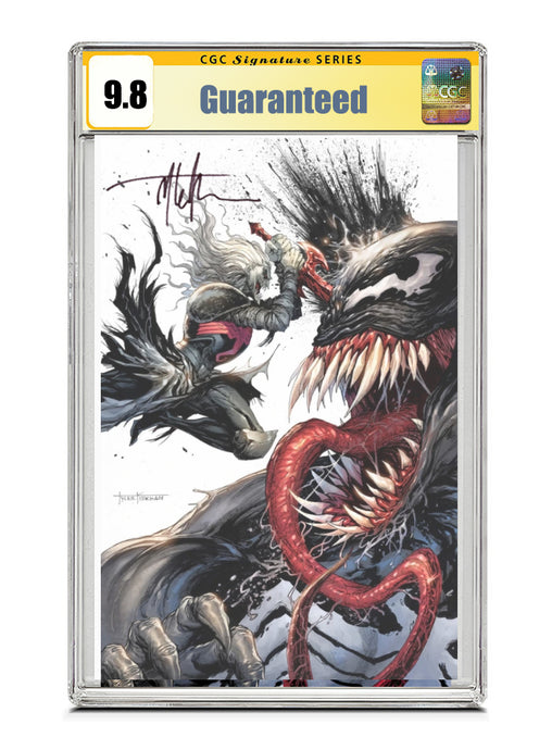 Venom #28 SECRET VIRGIN Signed by Tyler Kirkham CGC 9.8 Guaranteed Jan/Feb 2021