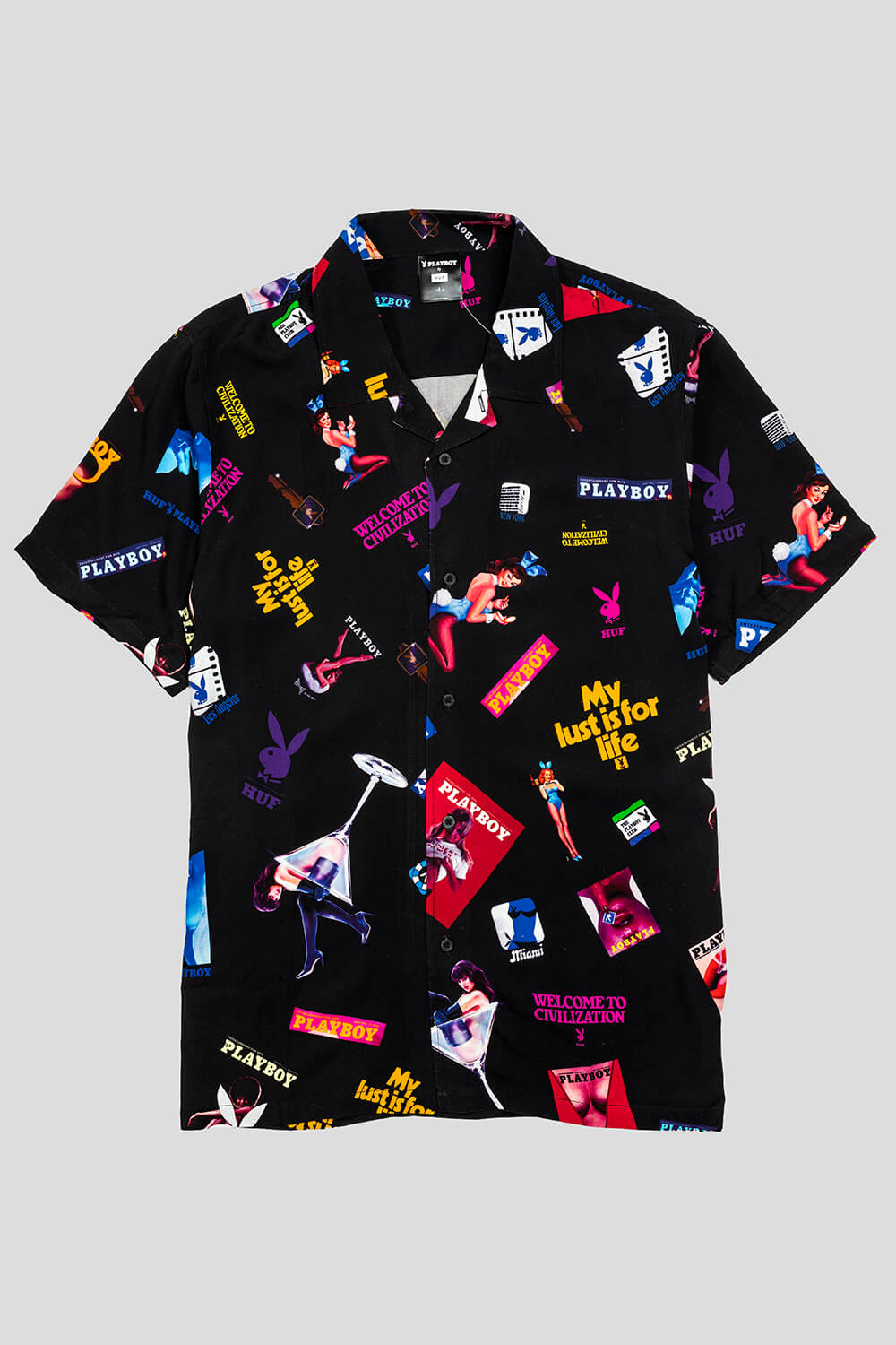 x Playboy Collage Woven Button-Up