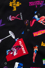 Load image into Gallery viewer, x Playboy Collage Woven Button-Up