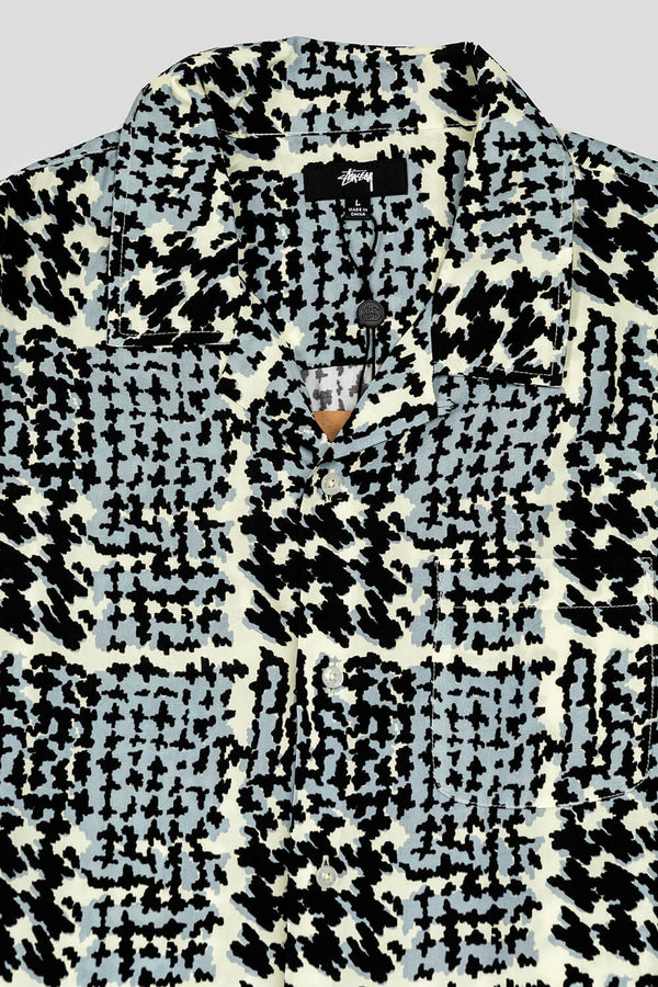 Hand Drawn Houndstooth Button-Up Shirt