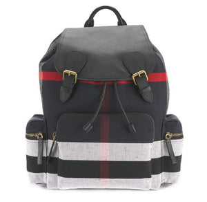 321c4c2f0795   Burberry  Large Rucksack in Canvas Check and Leather Navy 4052566