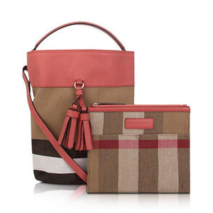 1a93f0cbacbc   Burberry  The Medium Ashby in Canvas Check + Leather Cinnamon Red 4050677