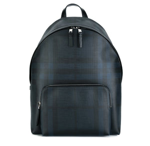 d6a7e58e49bf   Burberry  Leather Trim London Check Backpack Navy 40315661