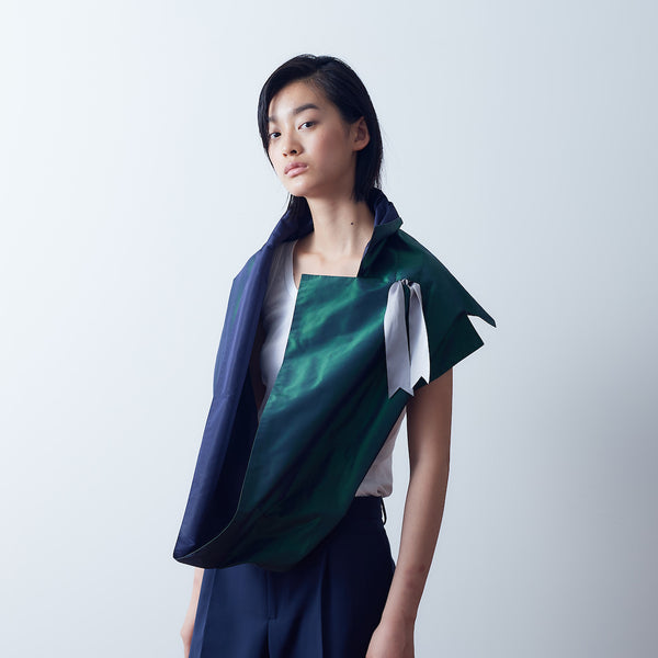 [ORIGAMI] -Green/Navy- popupdress Japan|ポップアップドレス