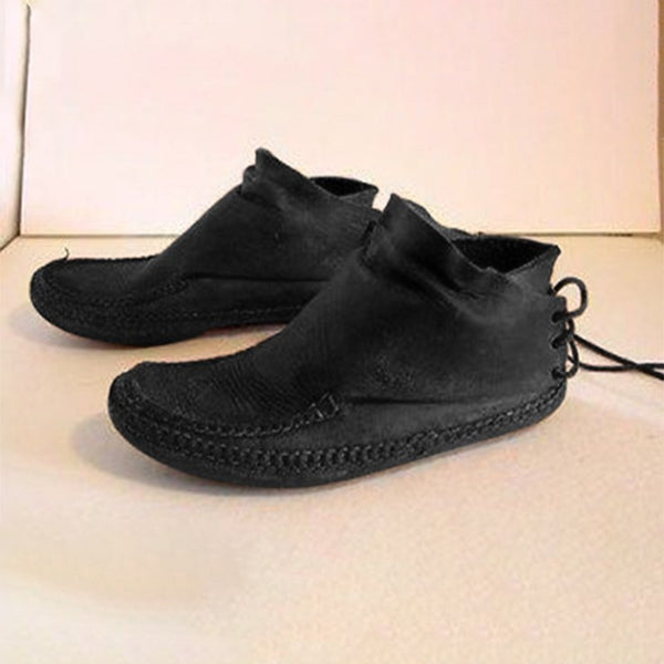 Leder Winter Slippers Unifarbe
