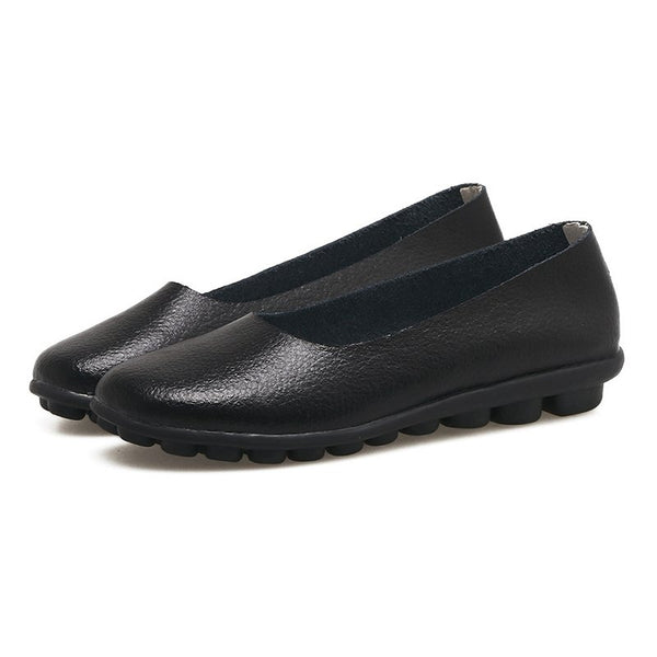 Slip-On Slippers aus Leder