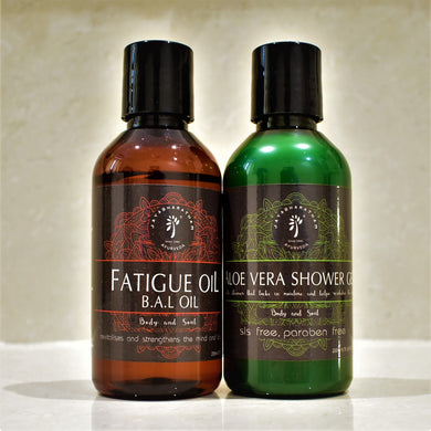 Aloe Vera Shower Gel & Fatigue Oil Combo Kit