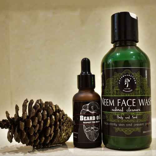 Beard Oil & Neem Face Wash Combo Kit