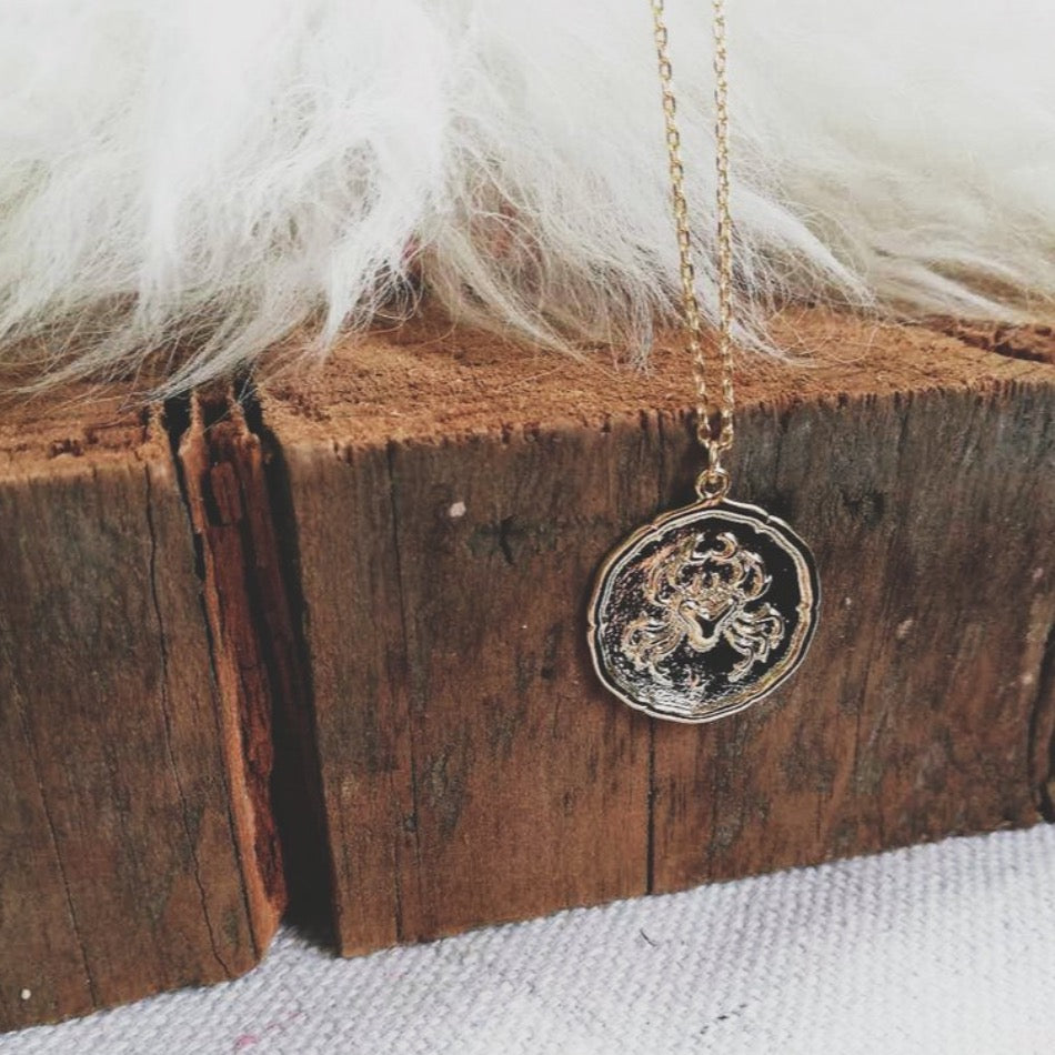 Cancer Coin Necklace