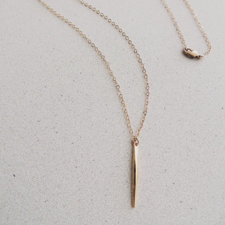 Mini Spike Necklace 18k Gold Plated