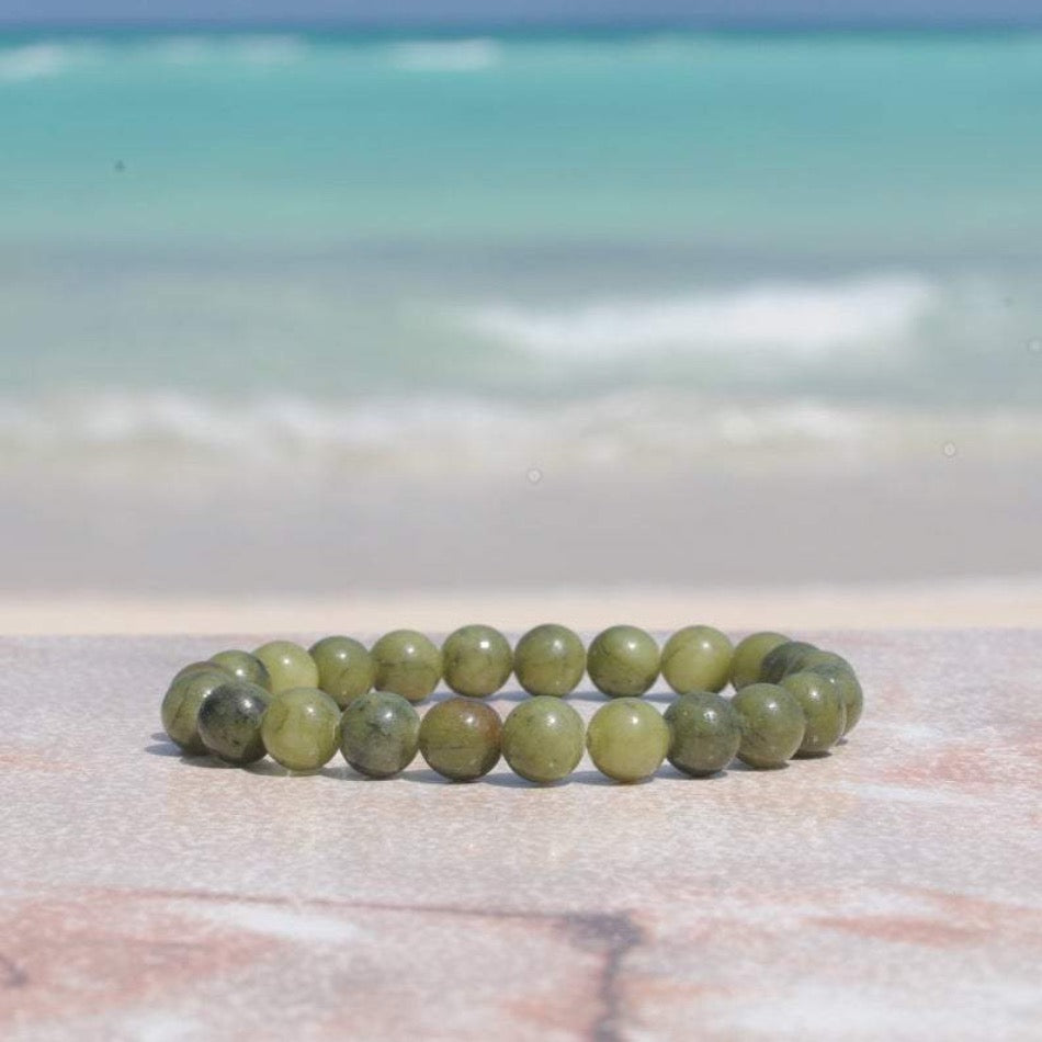 Green Jade Glossy 8mm Bracelet