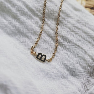 Initial B Necklace gold