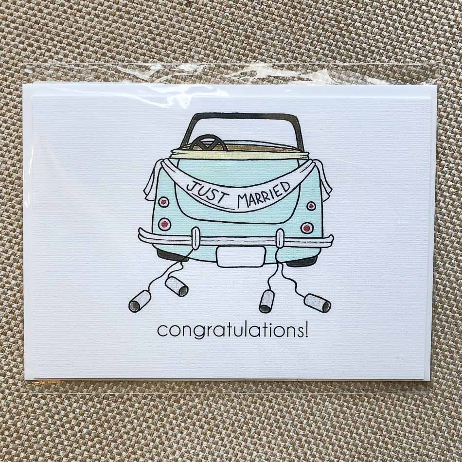 Mint Car Wedding
