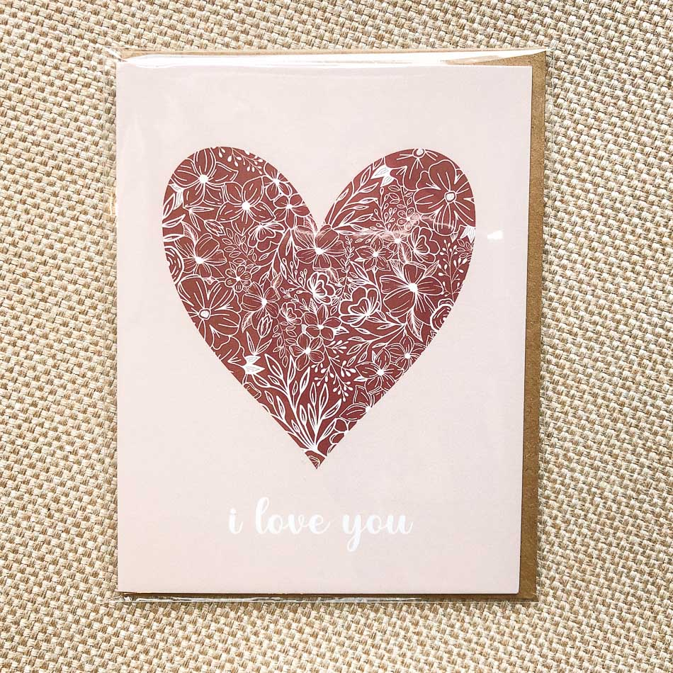I Love You Floral Greeting Card